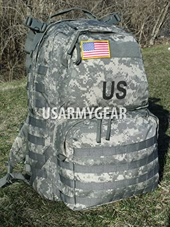 Made in US Army Military ACU MOLLE II Medium Rucksack Backpack Flag Eagle BAE