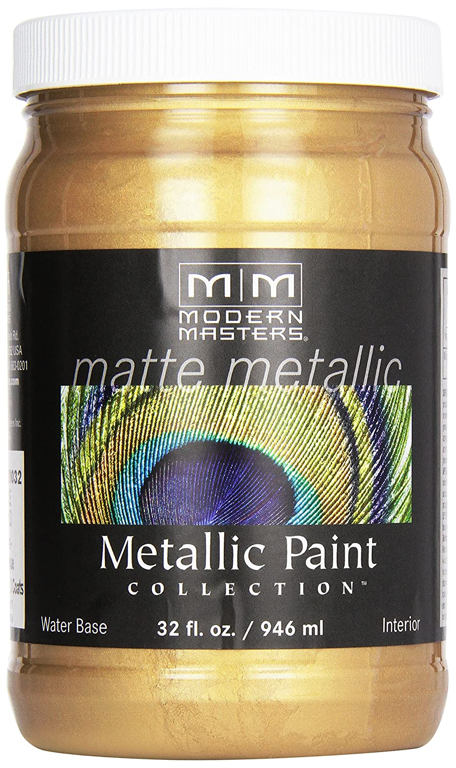 Amazon.com: Modern Masters MM200 Matte Metallic Paint, Pale Gold ...