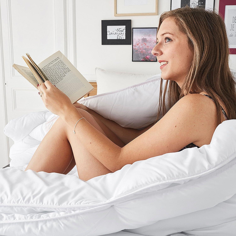 My Lovely Bed 140x200 cm 3 en 1 Couette 4 Saisons 200g//m/² et 300g//m/² = 500g//m/² - Chaude pour lhiver//L/ég/ère pour l/ét/é