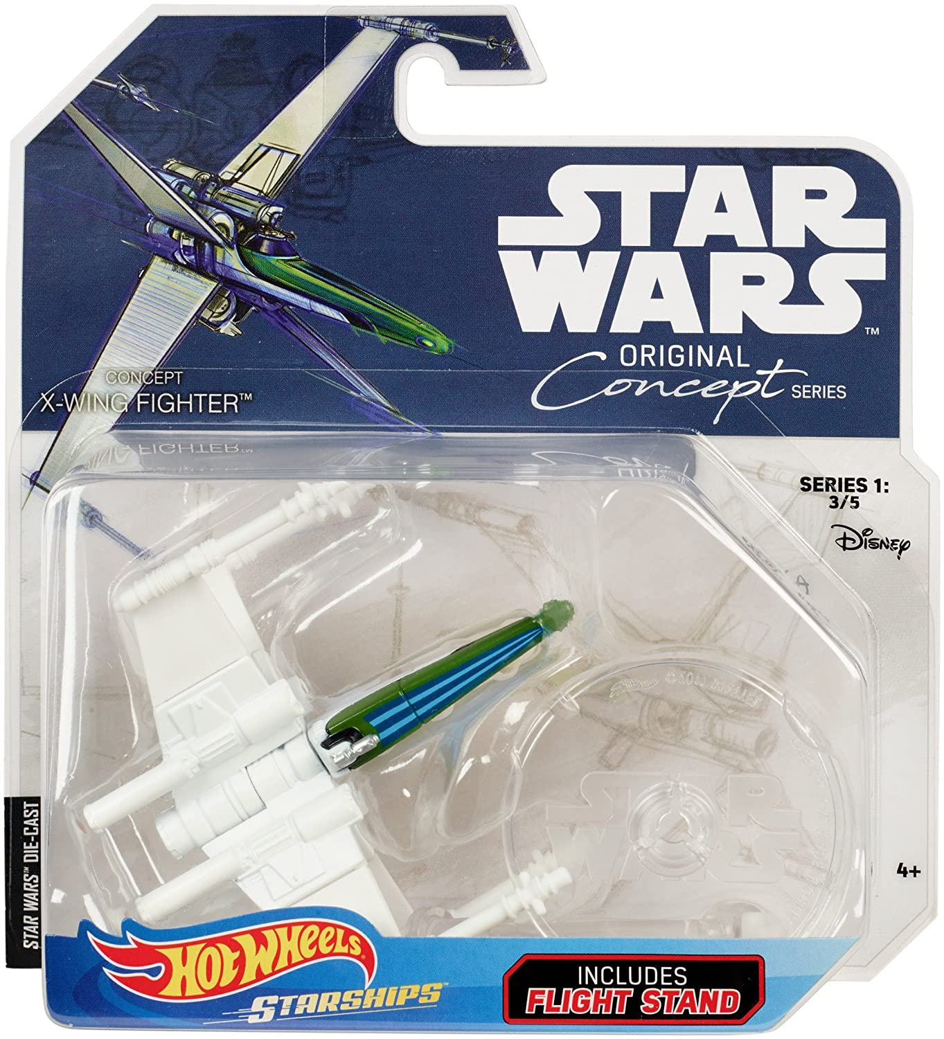 3//5 Série 1 Star Wars-CONCEPT-X-Wing Hot Wheels