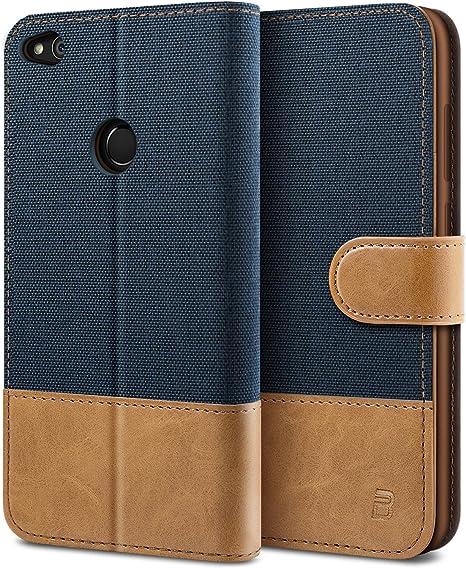BEZ Funda Huawei P8 Lite 2017, Carcasa Compatible para Huawei P8 Lite 2017, Libro de Cuero con Tapas y Cartera, Cover Protectora con Ranura para Tarjetas y Billetera, Cierre Magnético, Azul: Amazon.es: