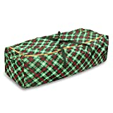 Honey-Can-Do SFT-07750 Plaid Rolling Tree Storage
