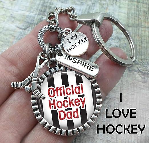 Amazon com: Official Hockey Dad, I Love Hockey Key Chain