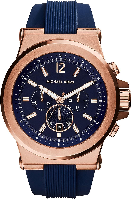 Michael Kors Reloj Cronógrafo para Hombre de Cuarzo con Correa en Silicona