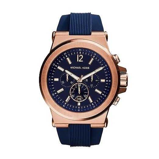 b0580e0fed7a6 Michael Kors Reloj para Hombre de con Correa en Silicona MK8295  Amazon.es   Relojes