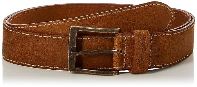 Wrangler Basic Stitched - Ceinture - Uni - Cuir - Homme  Amazon.fr   Vêtements et accessoires dba39fbab27