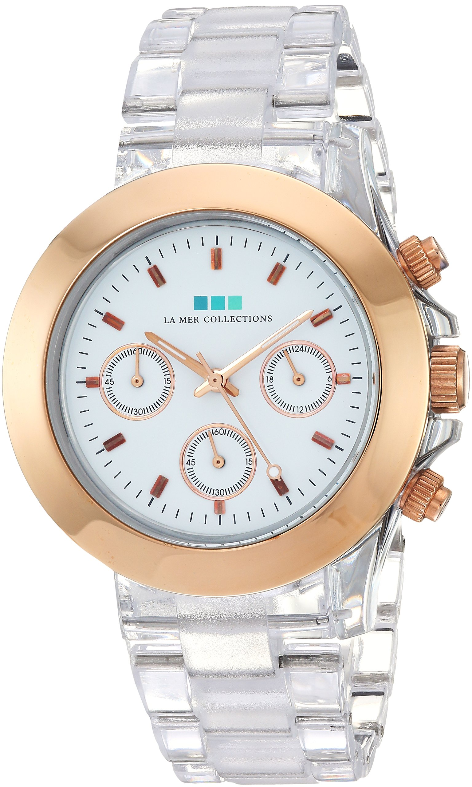 La Mer Collections Women's 'Carpe Diem' Quartz Stainless Steel and Plastic Casual Watch, Color:White (Model: LMCD008)