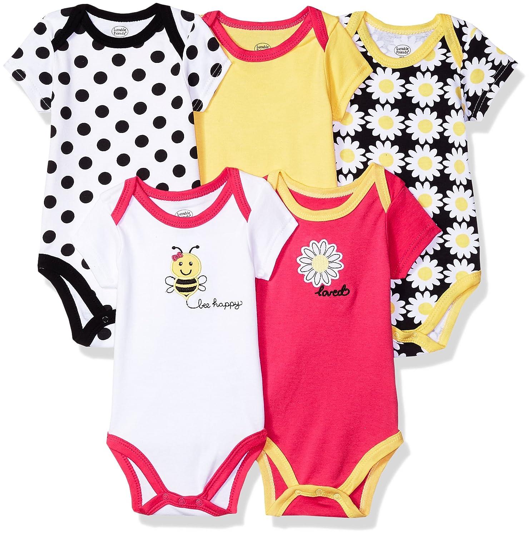 Luvable Friends Unisex-Baby Infant Cotton Bodysuits, 5 Pack