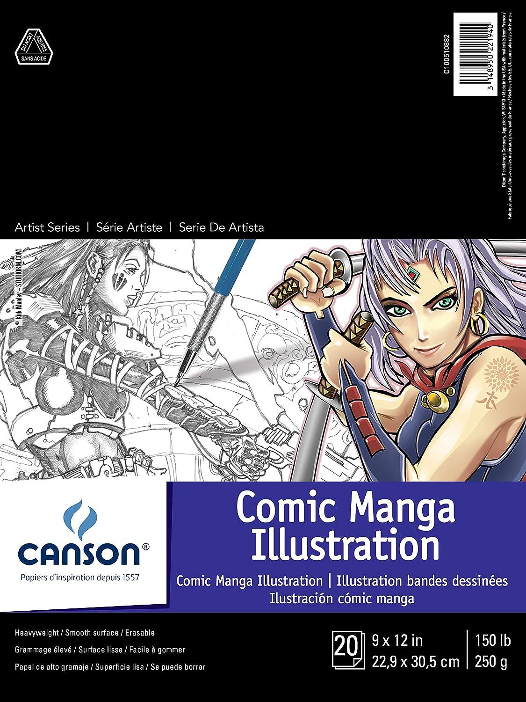 Hojas Canson Artist Series (9.0 x 12.0 pulgadas, 20 hojas).