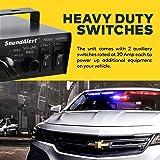 LAMPHUS SoundAlert 100W 120-130dB Emergency Vehicle Warning Siren-Speaker PA System Set