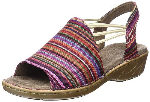 Korsika-III - Zapatos con Correa de Tobillo Mujer, Color Rojo, Talla 41 Jenny
