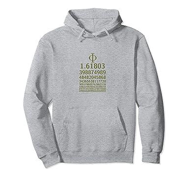 Amazon 1618 Phi Golden Ratio Symbol Math Lovers Hoodie Clothing
