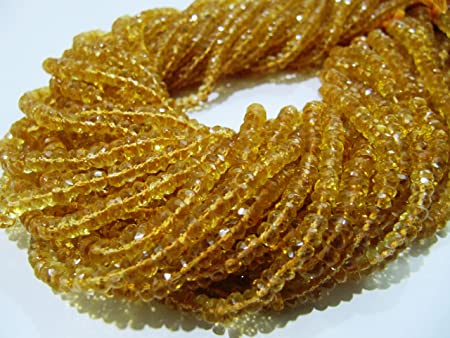 Faceted Citrine  Beads Strand of 13 Inches