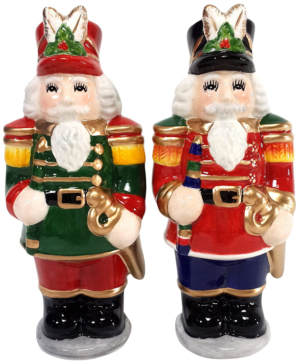 Cosmos 54546 Gifts Ceramic Nutcracker Salt and Pepper Set, 4-1/2-Inch