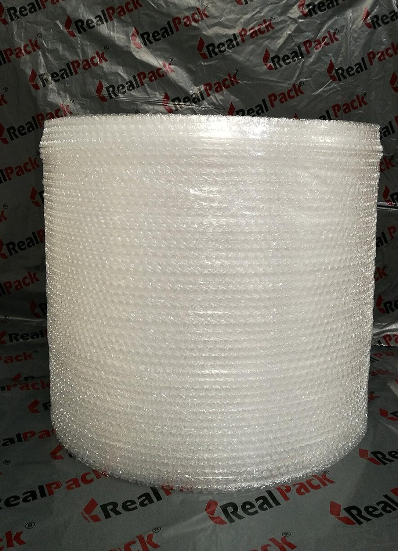 Realpack, 1 rotolo piccolo di pluriball, dimensioni: 600 mm di larghezza x 50 m di lunghezza, resistente e adatto per il trasloco REALPACK® realpack600x50small