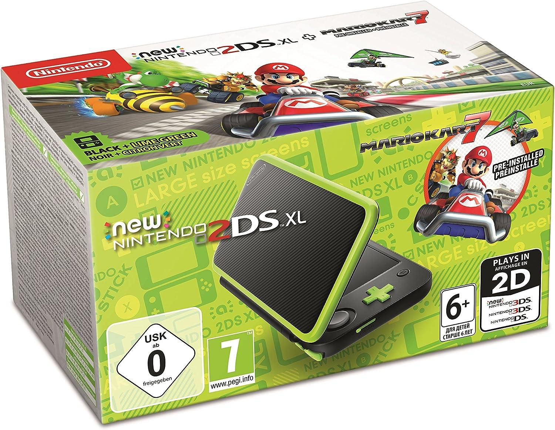 New Nintendo 2DS XL - Consola Verde Lima + Mario Kart 7 (Preinstalado): Amazon.es: Videojuegos