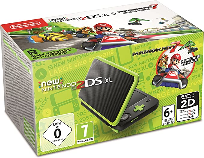 New Nintendo 2DS XL - Consola Verde Lima + Mario Kart 7 ...