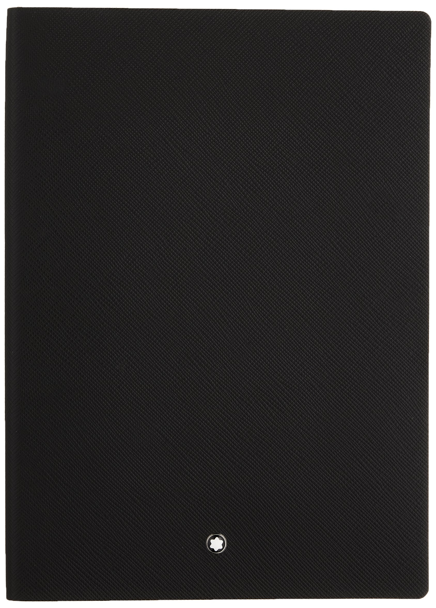 Montblanc Notebook Black Lined #146 Fine Stationery 113294 - Elegant Journal with Leather Binding and Ruled Pages - 1 x (5.9 x 8.2 in.) by MONTBLANC