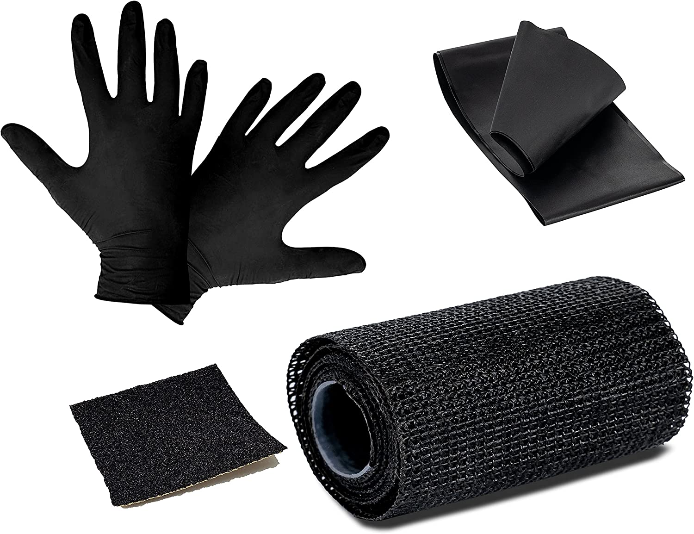Poppstar 1x cinta de reparaci/ón cinta para exteriores cinta de tela m/ás resistente que la cinta adhesiva poliuretano recubierto de fibra de vidrio 10cm x 150cm de largo