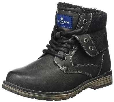 TOM TAILOR Jungen 3771101 Stiefel, Grau (Coal), 38 EU