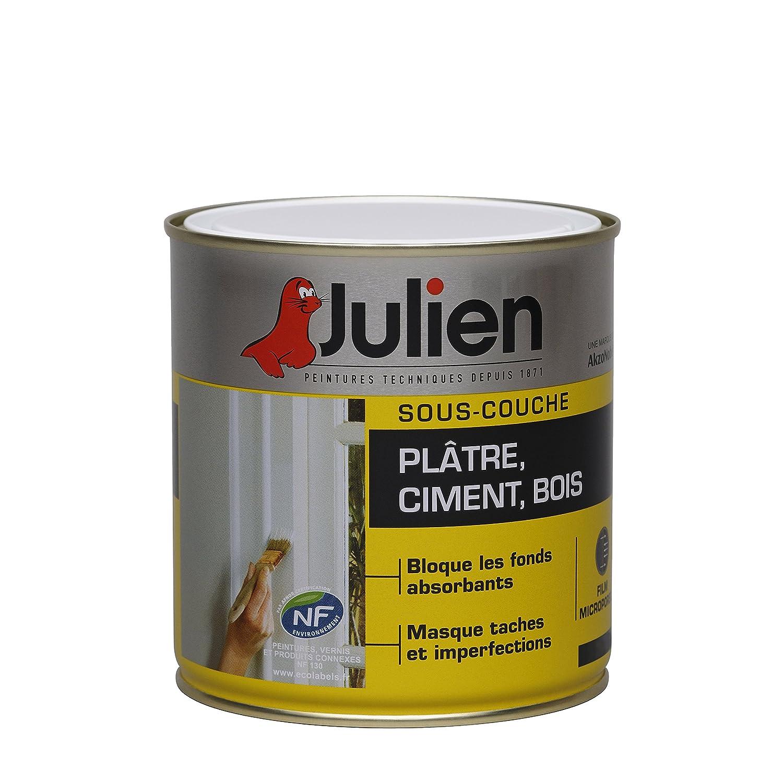 Sous Couche JULIEN Pour Plâtre, Ciment, Bois   Blanc Mat 0,5L: Amazon.fr:  Bricolage