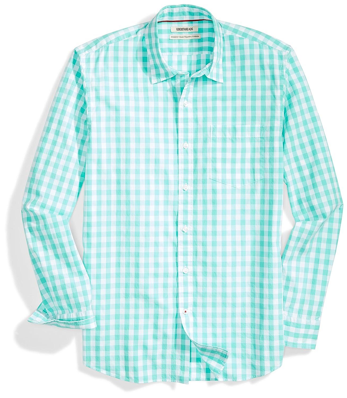 a981d03e Amazon.com: Amazon Brand - Goodthreads Men's Standard-Fit Long-Sleeve  Gingham Plaid Poplin Shirt: Clothing