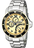 Invicta Men's 15337 Pro Diver Gold Dial Stainless Steel Watch