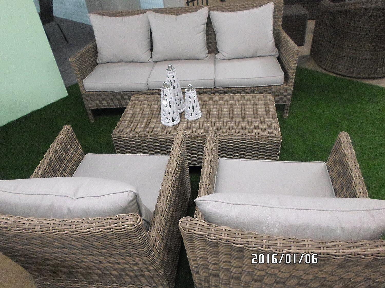 loungeset flamingo polyrattan hochwertig 4teilig bank 2 sessel tisch 68 108 188 cm g nstig. Black Bedroom Furniture Sets. Home Design Ideas
