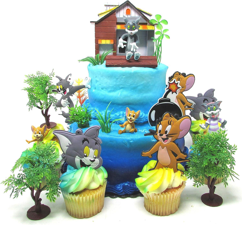 Fabulous Amazon Com Tom And Jerry 11 Piece Birthday Cupcake Topper Set Birthday Cards Printable Trancafe Filternl