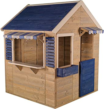 Wendi Toys M17 Maritime House | Casa de Juegos de Madera para Niños para Jardín Color Azul: Amazon.es: Juguetes y juegos