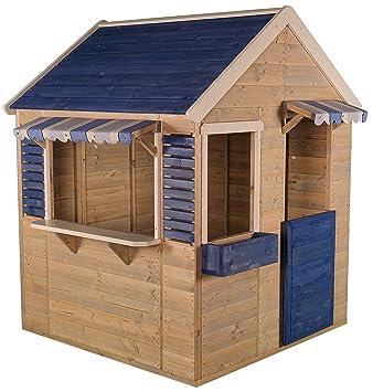 Merveilleux Wendi Toys M17 Maritime House | Kinder HolzSpielhaus | Blau Holz Garten  Haus | Holzhäuser Für