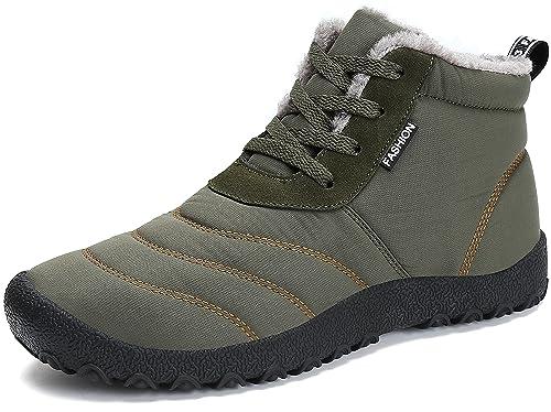 Uomo Neve Invernali Scarpe Piatto Caviglia Boots Stivali Caldo Stivaletti Saguaro® Antiscivolo Stringate All'aperto Pelliccia Donna yN8nOPvm0w