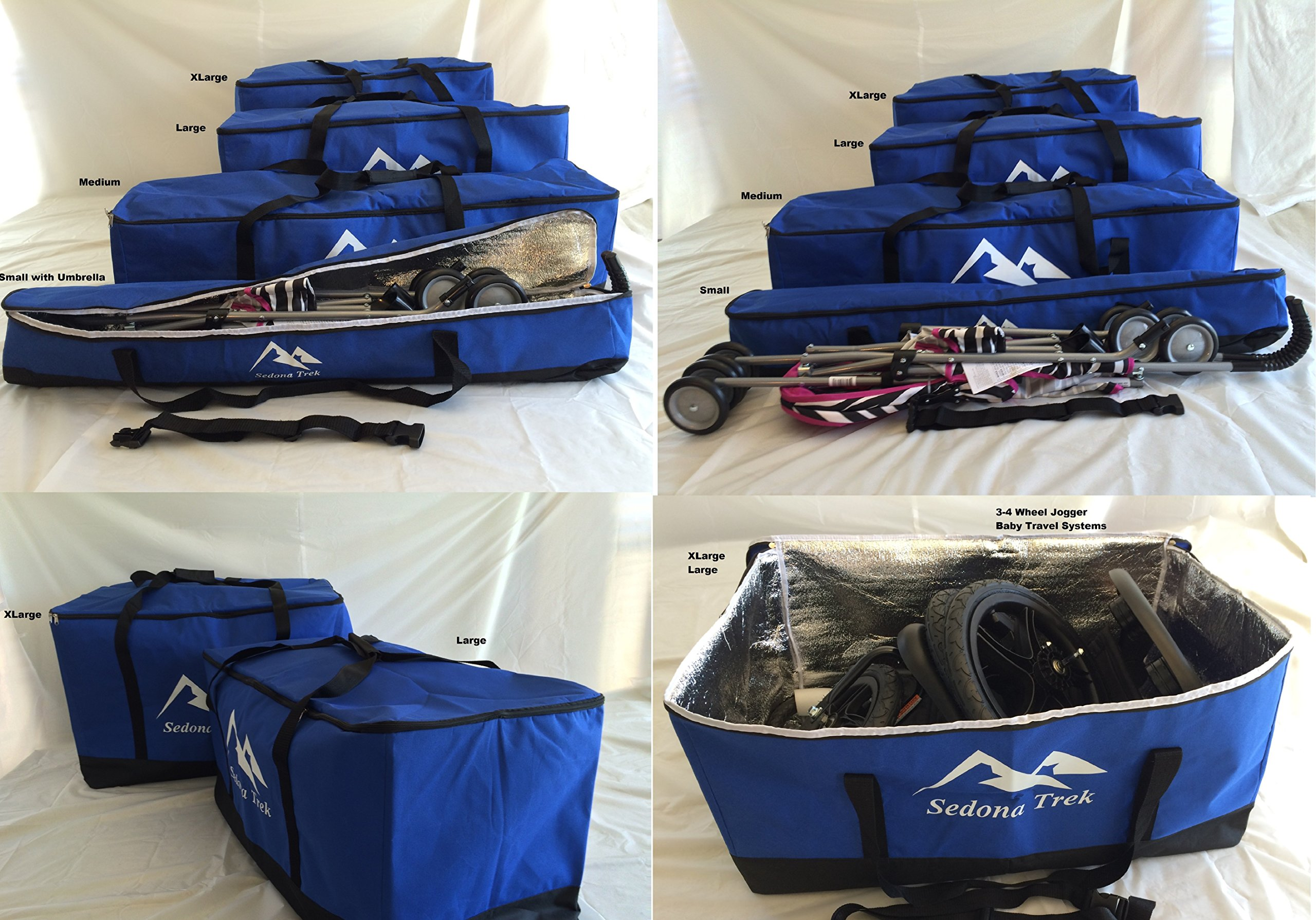 Medium Multi-Purpose Bags 11x11x43 inches for Travel Cargo, Sports, Camping, Hunting, Fishing Gear, Child Car Seats, All Strollers, Joggers, Storage, Tough Ballistic Fabric, Multilayered, Padded