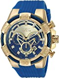 Invicta Men's Quartz Stainless Steel and Polyurethane Casual Watch, Color:Blue (Model: 24698)