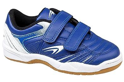 Gibra, Enfants Sport Chaussures Avec Velcro, Bleu / Blanc, Bleu, Taille 25 Eu