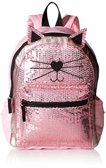 f93cadd773f Amazon.com  T-Shirt   Jeans Sequin Cat Back Pack pink  Clothing
