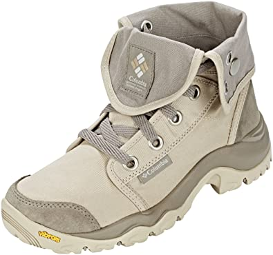 Columbia Camden, Chaussures de Randonnée Hautes Femme, Ecru (Ancient Fossil Grey Ice 271), 42 EU