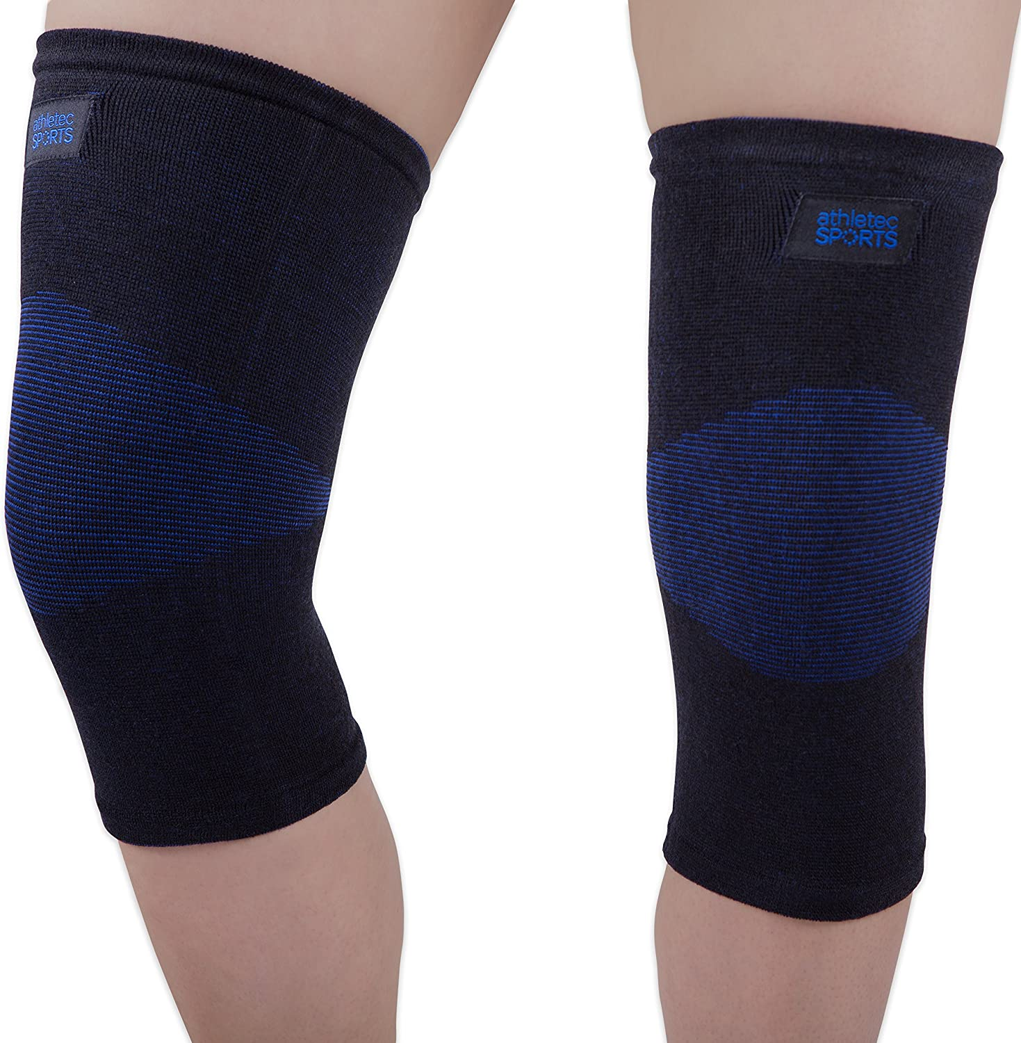 Athletec Sport Bamboo Charcoal Knee Compression Sleeve for Knee Pain, Joint  Pain, Arthritis Relief, Meniscus Tear and Support for Running, Walking, ...
