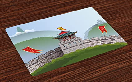 Amazoncom Lunarable Ancient China Place Mats Set Of 4
