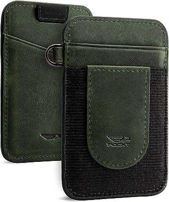 Men/'s Genuine Leather Slim Wallet Minimalist Pocket Credit ID Card Holder Case