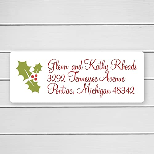 amazon com 60ct christmas return address labels holly return