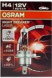 Osram NIGHT BREAKER LASER H4 Halogen, Scheinwerferlampe, 64193NBL, 12V, Faltschachtel, 1 Stück