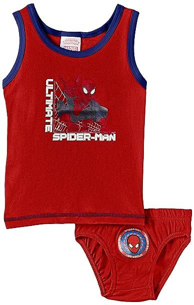 Marvel SPI - Ropa Interior Deportiva para niños, Color Rojo, Talla 3 años/