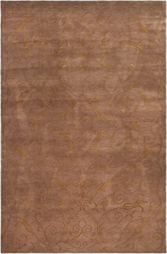 Safavieh Tibetan Collection TB317N Hand-Knotted Lilac Silk Wool Area Rug 10' x 14'