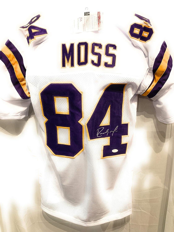 Randy Moss Minnesota Vikings Signed Autograph Custom White Jersey JSA Witnessed Certified