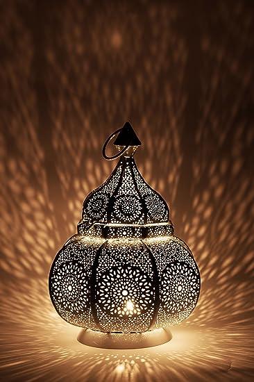 Orientalische Laterne Aus Metall Ziva Weiss 30cm Orientalisches