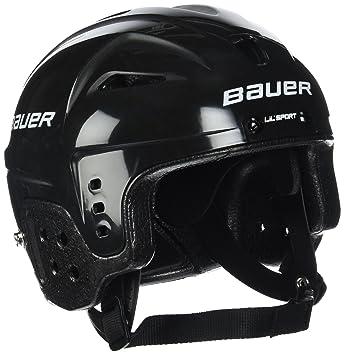 Bauer Helm Helmet LIL Sport - Casco de hockey sobre hielo, color negro, talla