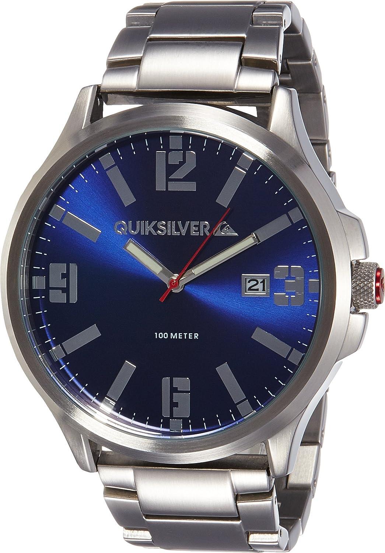 Quiksilver Herren-Armbanduhr The  Beulka Analog Edelstahl Silber QS-1002BLSV