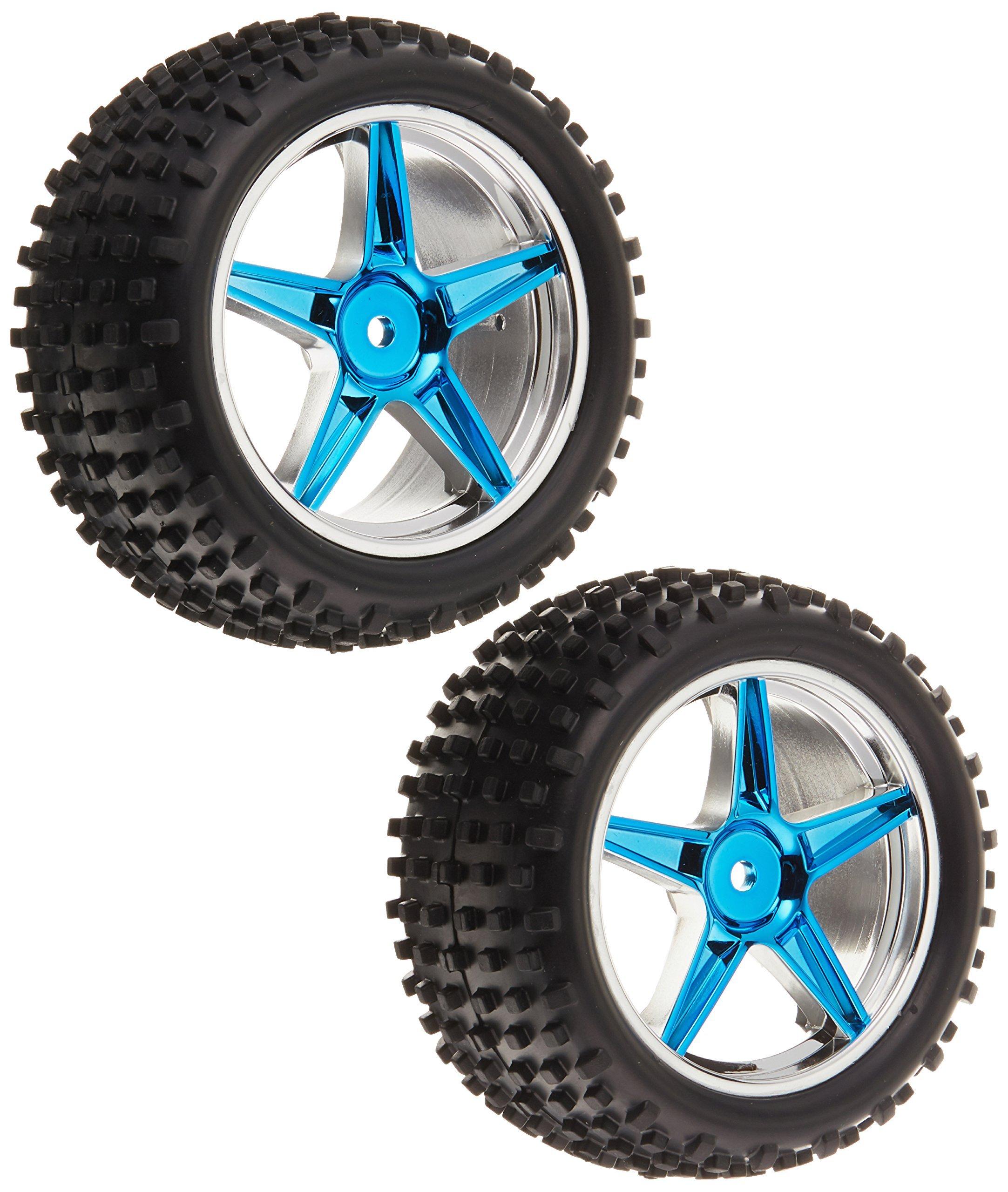 Redcat Racing 06026PB Complete Rear Wheels (Blue, 2Piece)