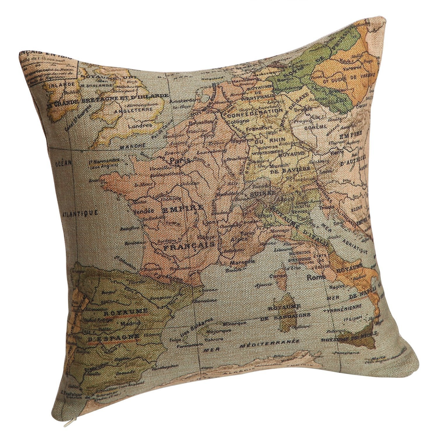 Amazon.com: Decorbox Decorative 20 x 20 Inch Linen Cloth Pillow ...